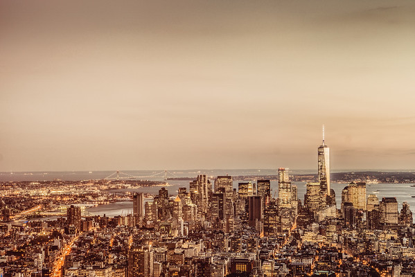 New York City - Financial District Skyline - Dusk