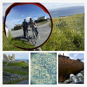 Inisheer Island Ireland . Mobile shots.