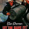 """Sub Spotted . . . LET 'EM HAVE IT"".  <br /> LEND A HAND - Enlist in our Navy today!"