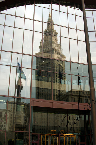 Photo By Bob Bodnar.....................................Reflection of Terminal Tower on Old BP Building