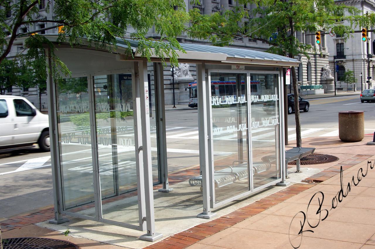 Photo By Bob Bodnar......................................................RTA Bus Stop
