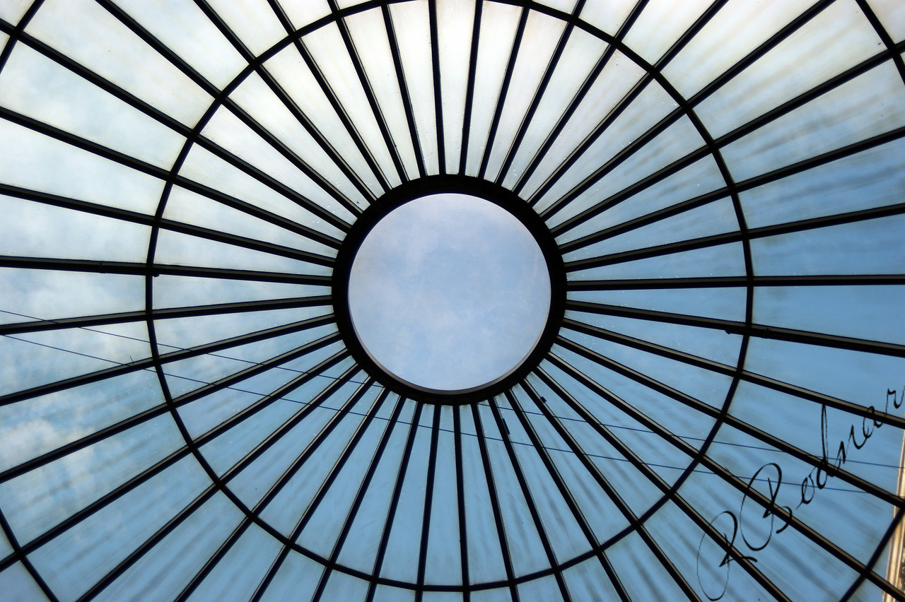 Photo By Bob Bodnar............................................Window in Atrium of Terminal Tower