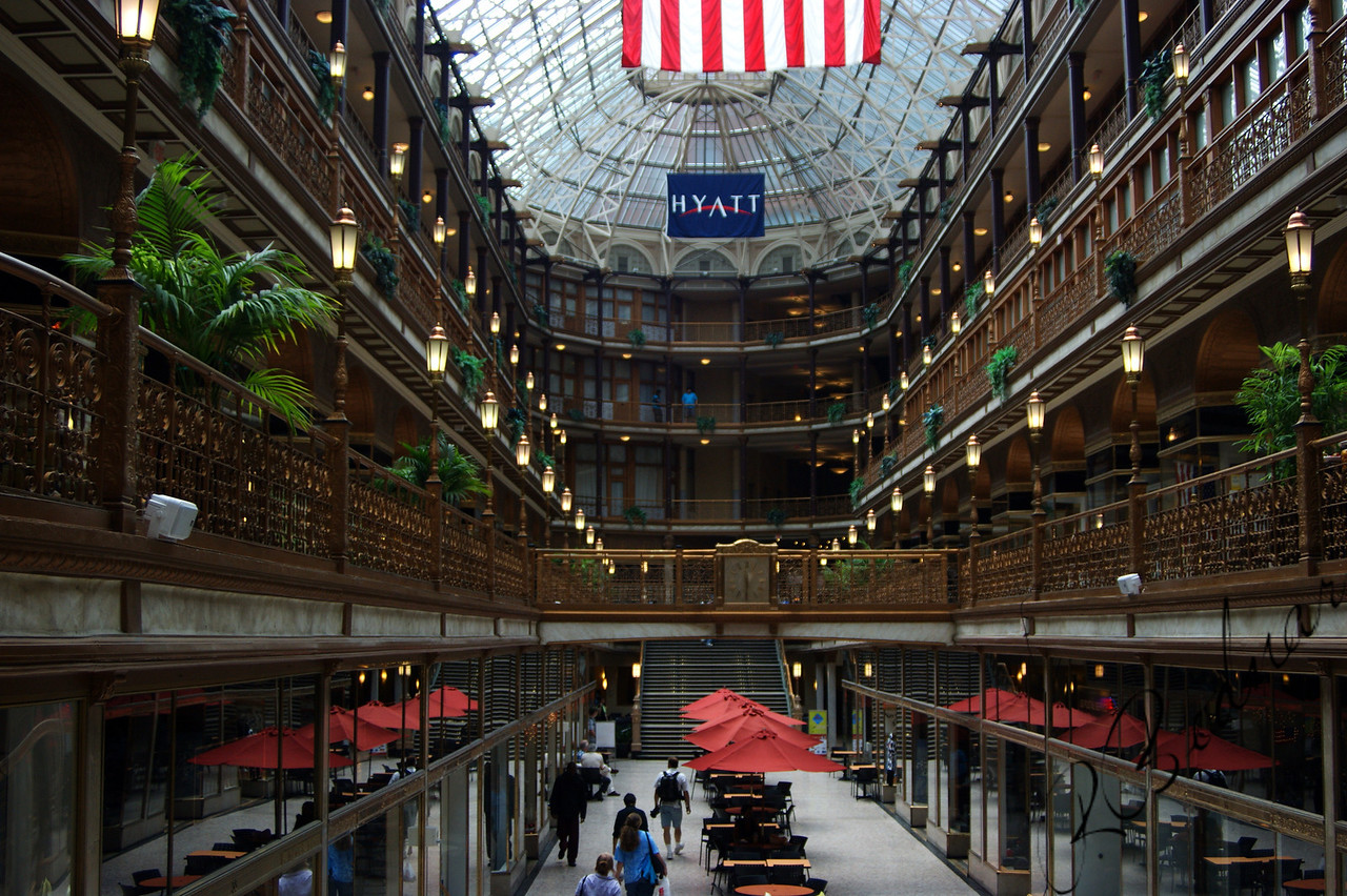 Photo By Bob Bodnar.............................The Arcade and the Hyatt all in one
