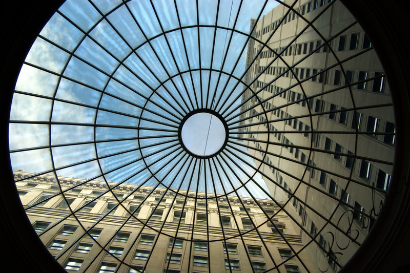 Photo By Bob Bodnar.......................................Window in Atrium of Terminal Tower