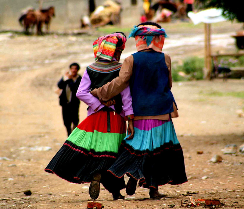 Yi Village Girls