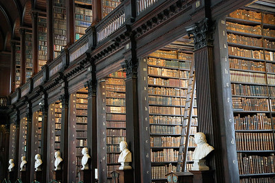 Bookstacks at Old Library, Trinity College, Dublin  Ireland
