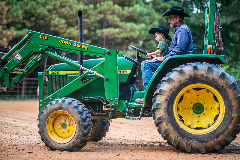 Wyatt and tractor-1678