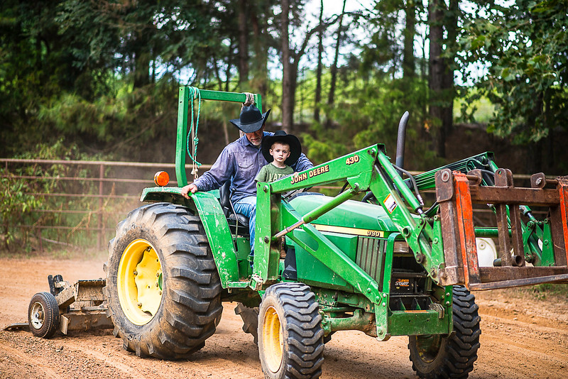 Wyatt and tractor-1647