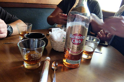 Havana Club rum, a brand of rum created in Cuba in 1934, and now one of the best-selling rum brands in the world - except in the US.