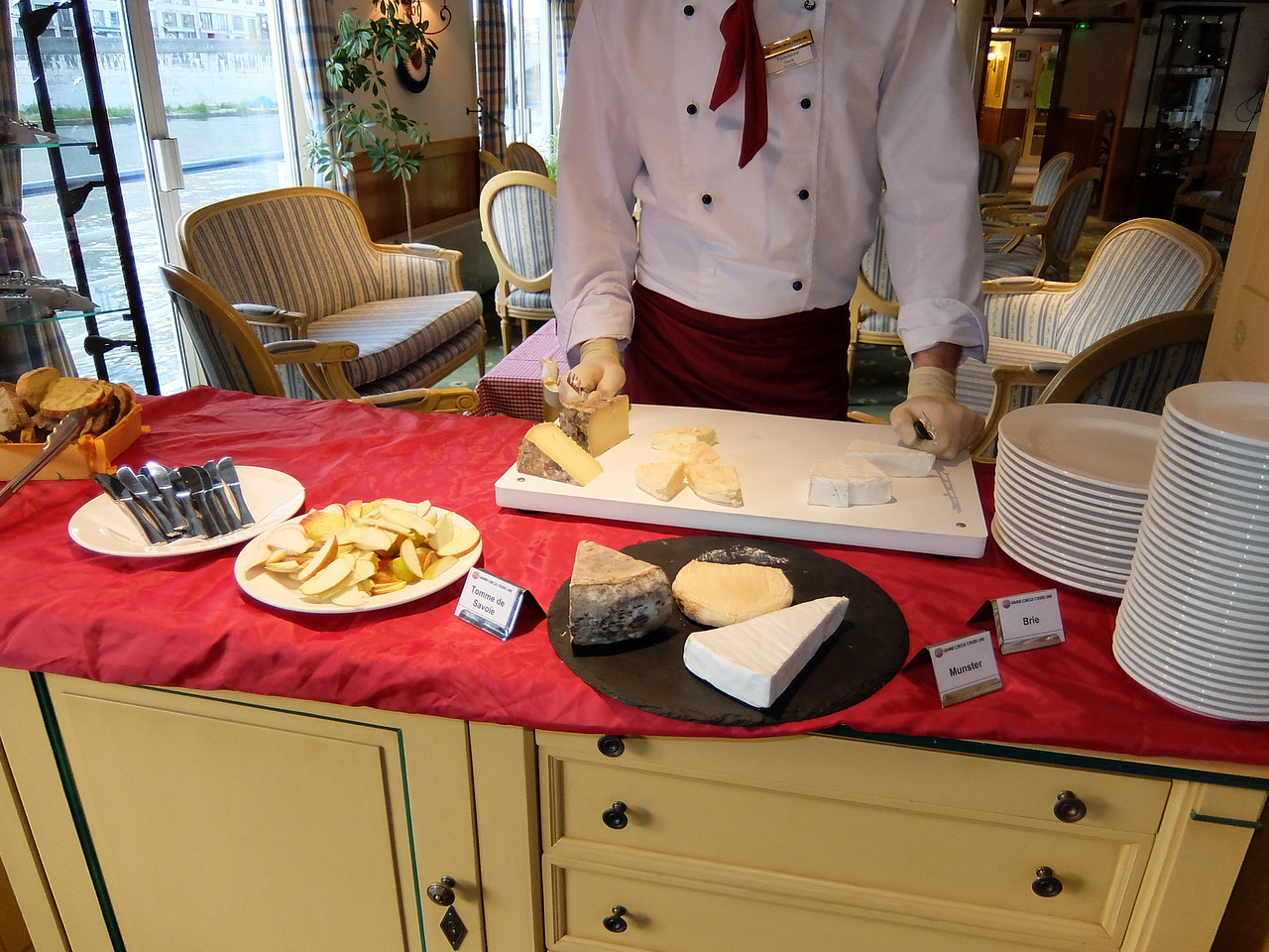 a different cheese plate was prepared every night on the M/S Provence