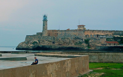 El Morro fortress. Built in 1589 in response to raids on Havana harbor, el Morro (the rock) protected the mouth of the harbor with a chain being strung out across the water to the fort at La Punta.