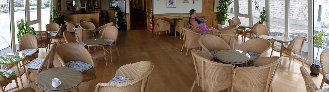 relaxing in the forward lounge aboard M/S Provence
