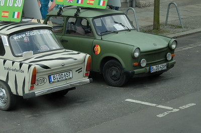 Trabants. Cheap two cyclinder cars common in the GDR during the Cold War.