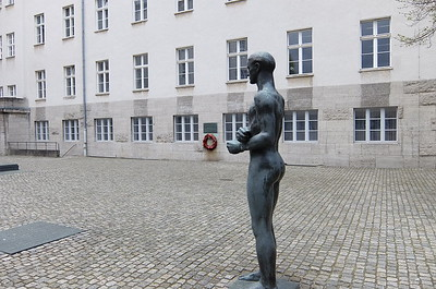 Statue dedicated to count Von Stauffenberg who was executed on this site by the Nazis after attempting the 1944 assassination of Adolph Hitler