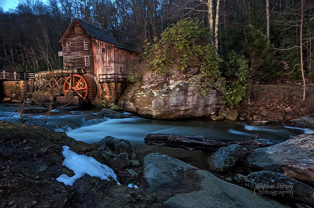 By the light of the Moon ... Glade Creek Grist Mill