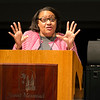 "Dr. Cecilia Moore, associate professor in the Department of Religious Studies at the University of Dayton, delivered the annual Black History Lecture in the St. Bede Theater at Saint Meinrad on Tuesday, February 7.<br /> <br /> Her lecture was titled ""Hidden in Plain View: Black Catholics and the Civil Rights Movement."""