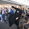 "Fr. Christian Raab, OSB, danced with youth between the group sessions of the ""One Bread, One Cup"" Youth Liturgical Leadership conference on June 29."