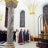 The monastic community gathers together to pray five times a day in the Archabbey Church.