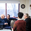 Seminary students in the January Interterm wellness class visited with infirmary monks on January 18.