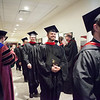 Saint Meinrad Seminary graduates process out of St. Bede Hall after commencement on May 13.