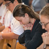 "Youth gather together to pray during the ""One Bread, One Cup"" Youth Liturgical Leadership Conference."
