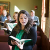 Graduate Theology students attended morning prayer in the St. Bede Chapel before classes began on Saturday, March 23.