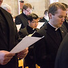 The fourth-year theology seminarians make their priesthood promises on March 14 in the school's St. Thomas Aquinas Chapel.