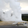 Old Faithful in Early Morning