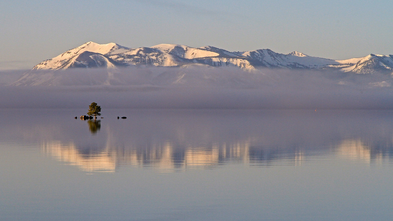 Geyser Fog over Lake Yellowstone
