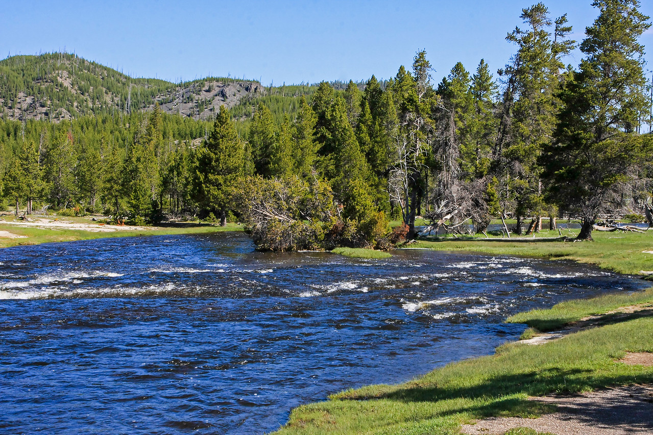 Firehole River in Biscuit Basin