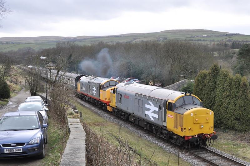 37901 and 37518, Irwell Vale.