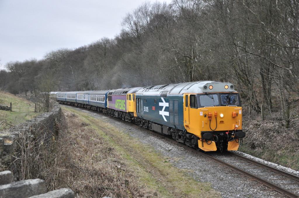 50015 and 56312, Irwell Vale.