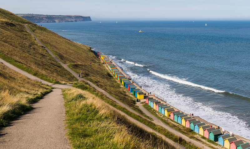 Zig zagging paths above Whitby sands