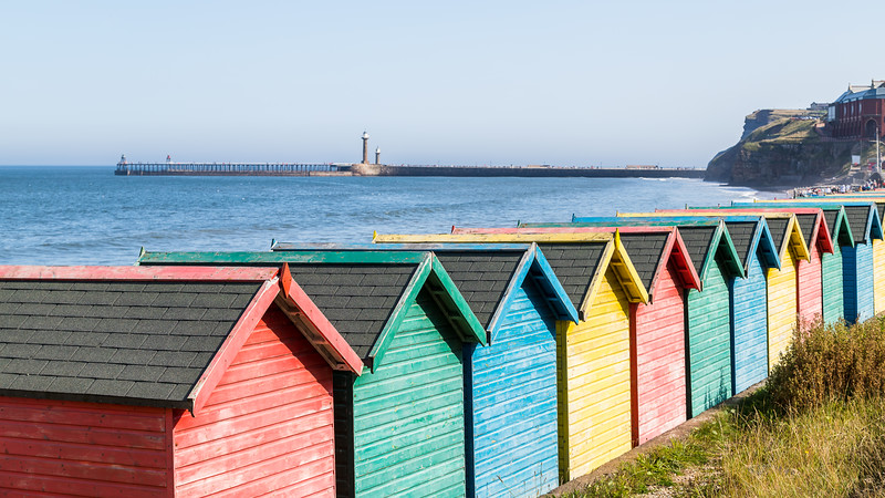 Fading beach huts at Whitby