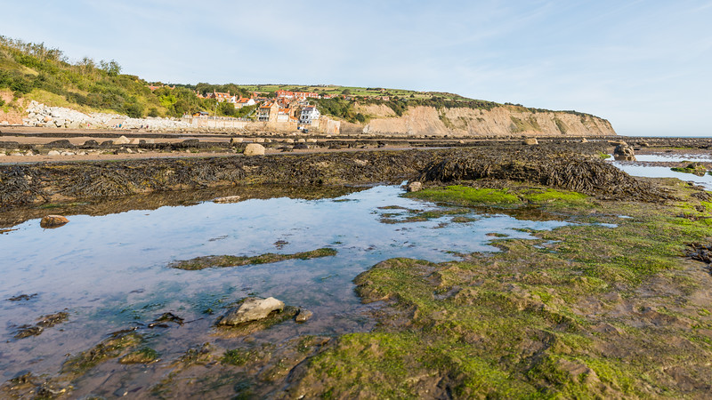 Rock pool panorama at Robin Hoods Bay