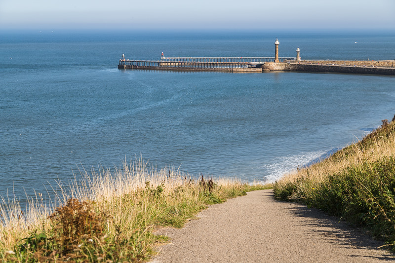 Pathway down to Whitby sands