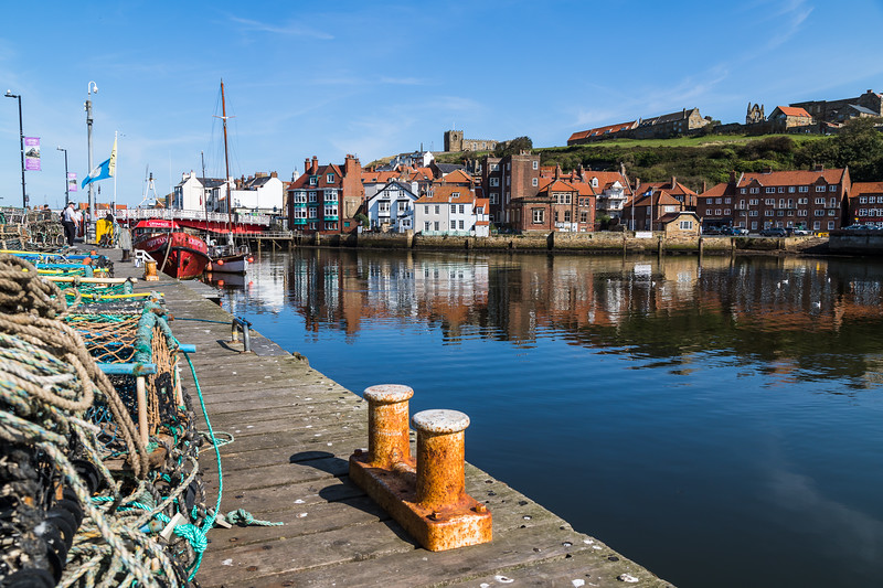 Quayside of Whitby harbour