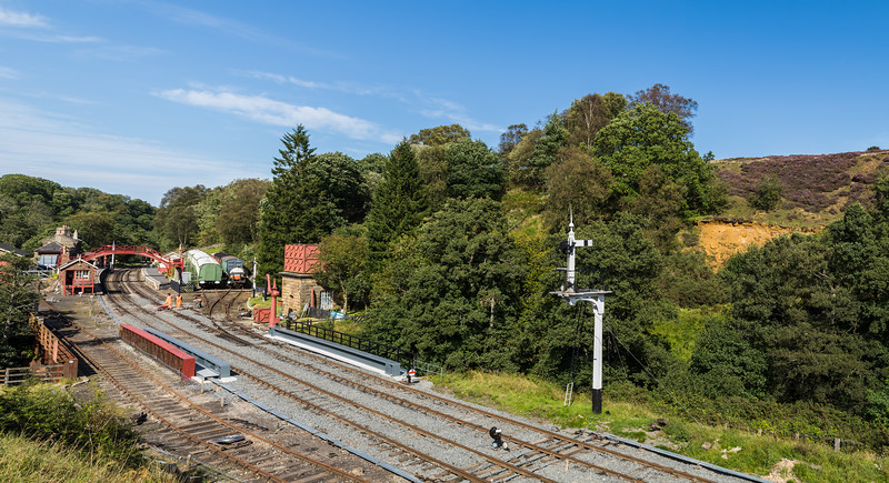 Goathland train station panorama