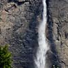 Long Waterfall Near El Capitan in Yosemite National Park in California