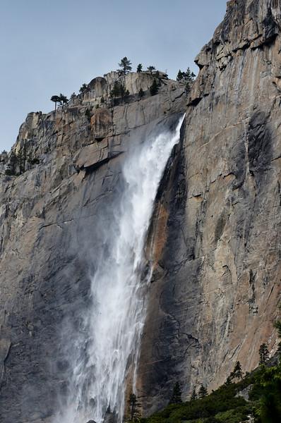 Feel the Spray from Waterfall Near El Capitan in Yosemite National Park in California