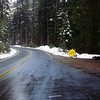 Icy Road in Yosemite