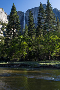 Upper Yosemite Falls and the Merced River