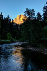 Half Dome reflected in the Merced River