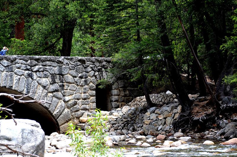Stone Foot Bridge in Yosemite Valley in California