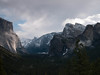 <center><b>Yosemite Valley - Tunnel View</b><center><br>No matter how many times I visit Yosemite, I never get tired of stopping at the parking lot on the east side of the Wawona Tunnel and taking in the view. Many times I've set up my tripod, along with dozens of others, and waited to see what the sunset will bring. On this particular afternoon, the clouds were rolling in long before sunset and I took this shot just to capture the scene on a typical winter day.