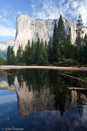 El Capitan Reflection on Merced River - Yosemite National Park, CA, USA