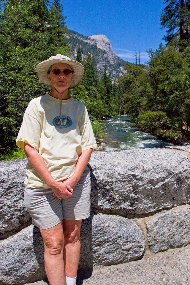 Carolyn Nelson at Happy Isle, Yosemite