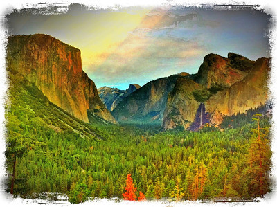 Tunnel View: Saturated Viewing