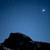 Jupiter Rising Over Half Dome