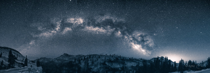 Milky Way Over The High Sierra - Monochrome